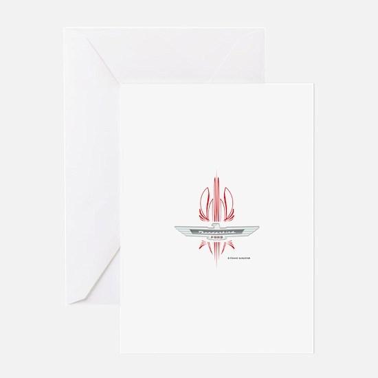 T Bird Emblem Pinstripes Greeting Card