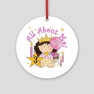 3rd Princess Birthday Ornament (Round)