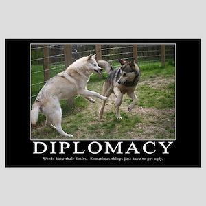 Diplomacy Demotivational Poster (Large)