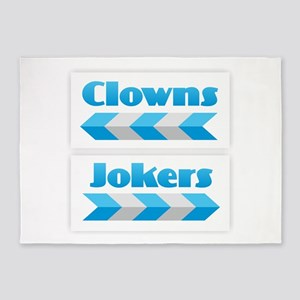 Clowns and Jokers 5'x7'Area Rug