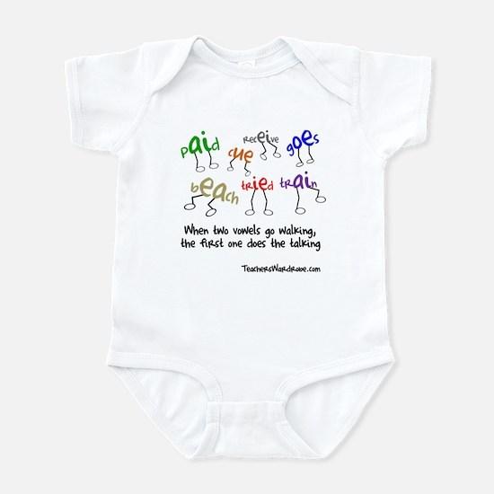 When Two Vowels Go Walking Infant Bodysuit