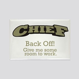 Chief - Back Off Rectangle Magnet