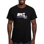 ILY Massachusetts Men's Fitted T-Shirt (dark)