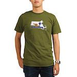 ILY Massachusetts Organic Men's T-Shirt (dark)