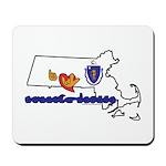 ILY Massachusetts Mousepad