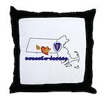 ILY Massachusetts Throw Pillow