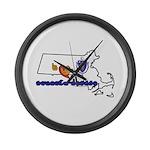 ILY Massachusetts Large Wall Clock