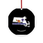 ILY Massachusetts Ornament (Round)