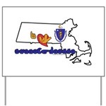 ILY Massachusetts Yard Sign