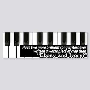 Ebony and Ivory Sticker (Bumper)