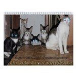 the whiskers' syndicate cat Wall Calendar