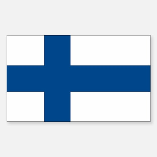 Finland Flag Rectangle Decal