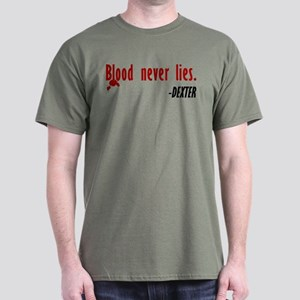 Dexter Quote Blood Never Lies T-Shirt (dark)