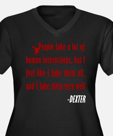 Dexter Quote Fake Human Interactions Women's Plus