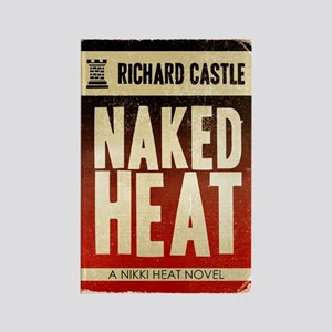 Castle Naked Heat Retro Rectangle Magnet