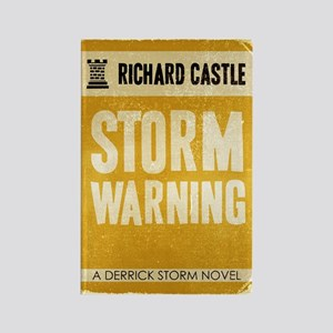 Retro Castle Storm Warning Rectangle Magnet