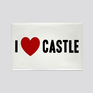 I Love Castle Rectangle Magnet