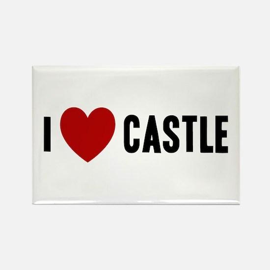 I Love Castle Rectangle Magnet