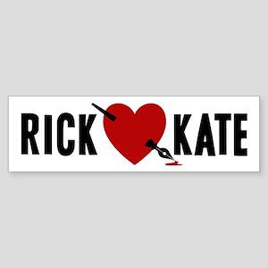 Castle Rick Heart Kate Sticker (Bumper)