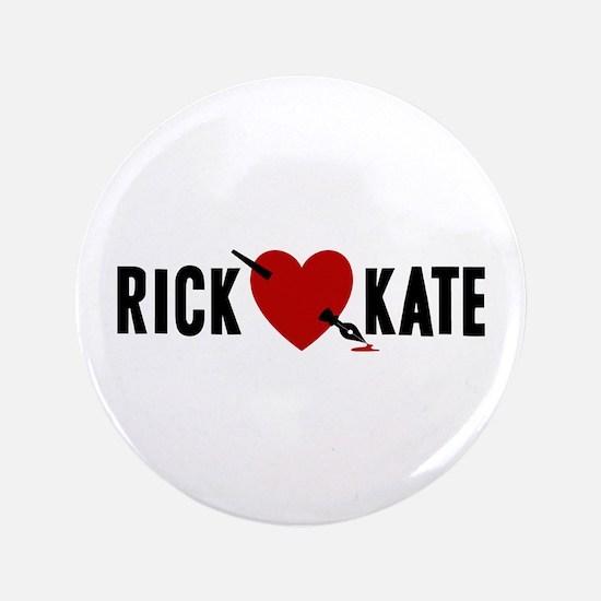 """Castle Rick Heart Kate 3.5"""" Button"""
