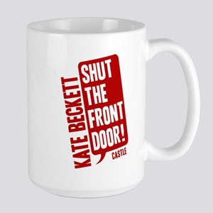 Castle Shut The Front Door Large Mug