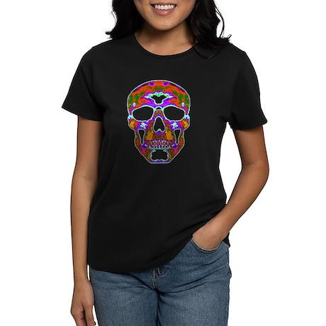 Psychedelic Skull Women's Dark T-Shirt