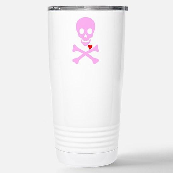 Pink Pirates Love Stainless Steel Travel Mug