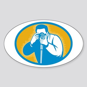 photographer Sticker (Oval 10 pk)