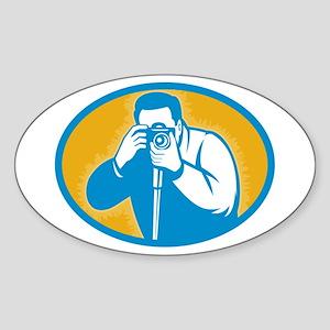 photographer Sticker (Oval )