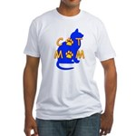 Cat Mom Fitted T-Shirt