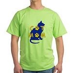 Cat Mom Green T-Shirt
