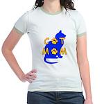 Cat Mom Jr. Ringer T-Shirt