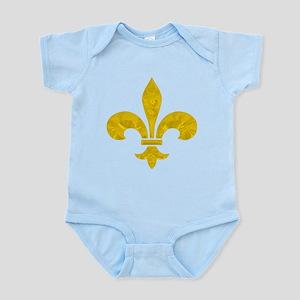 Saints Sharp Gold Leaf Fleur Infant Bodysuit
