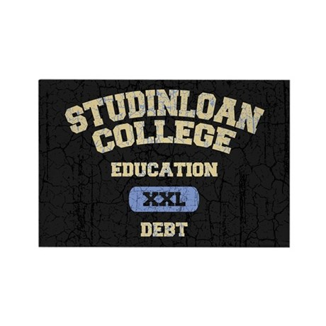 College Education Debt Rectangle Magnet (100 pack)