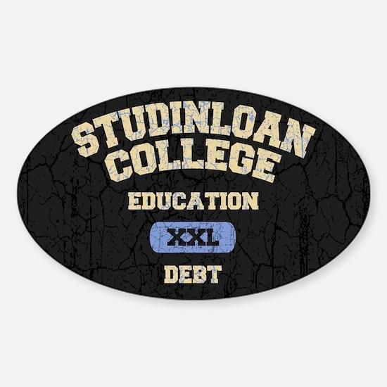 College Education Debt Sticker (Oval)