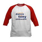 I want to Dance with Tony Kids Baseball Jersey