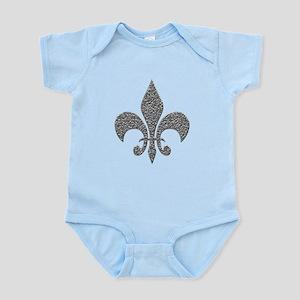 Hammered Silver NOLA Fleur Infant Bodysuit