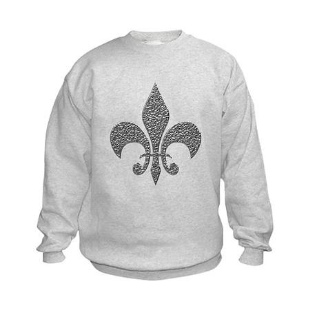 Hammered Silver NOLA Fleur Kids Sweatshirt