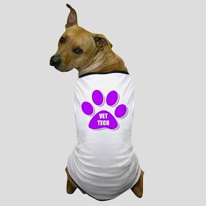 vet tech paw purple Dog T-Shirt