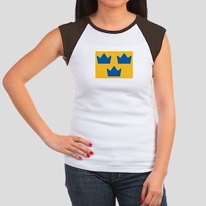 Sweden Hockey Logo Women's Cap Sleeve T-Shirt