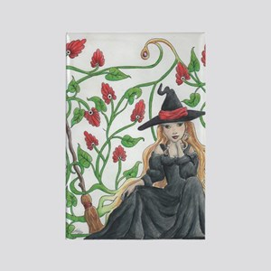 Witch's Broomstick Rectangle Magnet