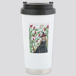 Witch's Broomstick Stainless Steel Travel Mug