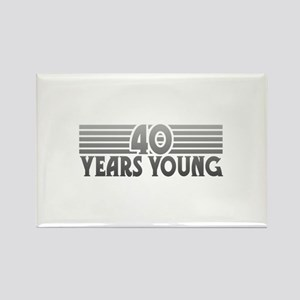 40 Years Young Rectangle Magnet