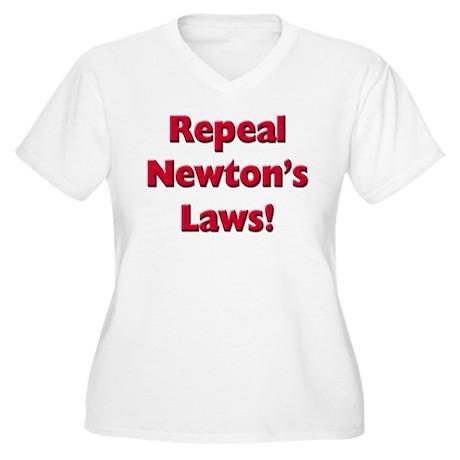 Repeal Newton's Laws Women's Plus Size V-Neck T-Sh