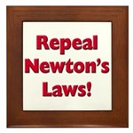 Repeal Newton's Laws Framed Tile