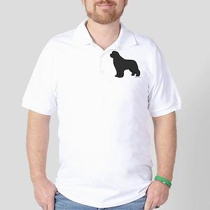 Gray Newfoundland Silhouette Golf Shirt