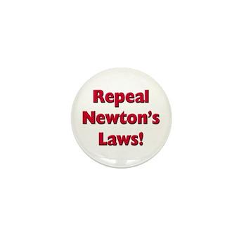 Repeal Newton's Laws Mini Button