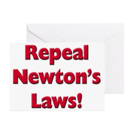 Repeal Newton's Laws Greeting Cards (Pk of 20)