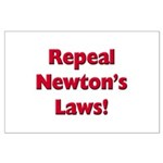 Repeal Newton's Laws Large Poster