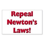 Repeal Newton's Laws Sticker (Rectangle 50 pk)